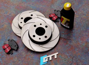 Abarth 500 GTT Spiroslot Rear Brake Discs + Kevlar Brake Pads
