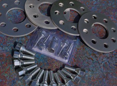 Abarth 500 GTT Wheel Spacers, Longer Bolts, Locking Wheel Bolt Kit Package