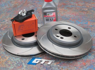 Mini Gen 1 GTT Front Spiroslot Brake Kit + Race Pads