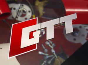 GTT Logo Stainless Steel Badge for Boot / Strutbrace etc.